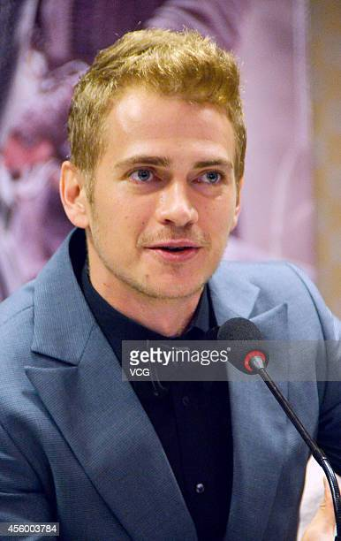 Actor Hayden Christensen attends Nick Powell's new movie 'Out Cast' press conference on September 23 2014 in Guangzhou China