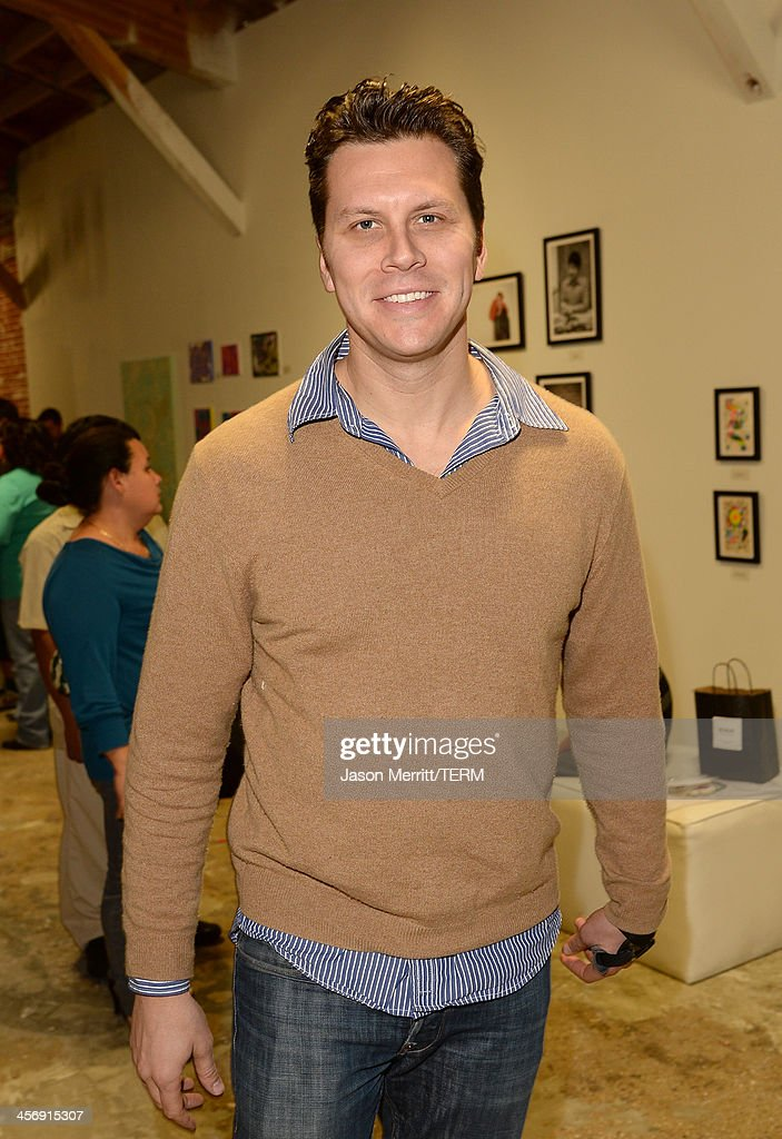 Actor Hayes MacArthur attends the Art of Elysium's Little Pieces of Heaven presented by Hudson Jeans on December 15 2013 in Los Angeles California