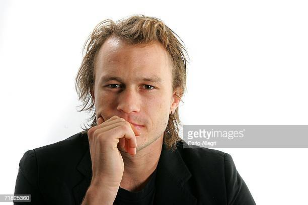 Actor Heath Ledger from the film 'Candy' poses for portraits in the Chanel Celebrity Suite at the Four Season hotel during the Toronto International...