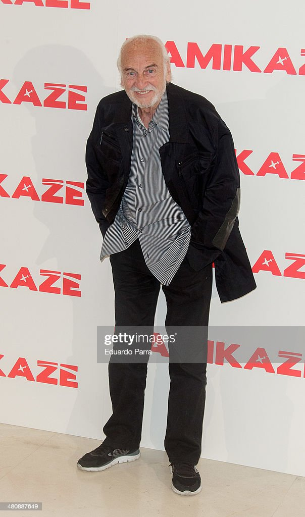 Actor Hector Alterio attends 'Kamikaze' photocall at Hesperia hotel on March 27, 2014 in Madrid, Spain.