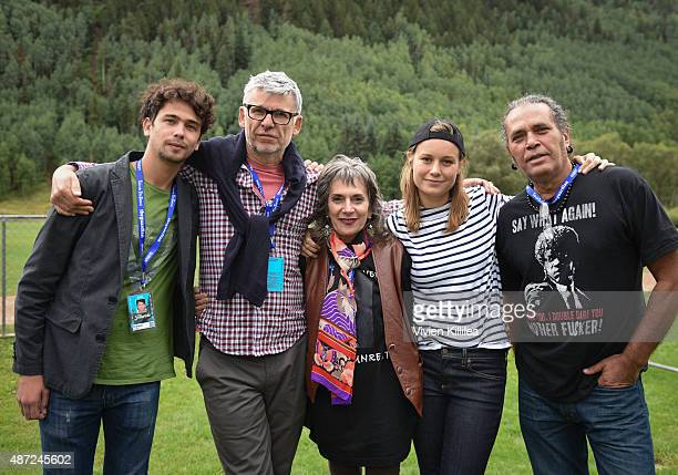 Actor Hector Medina director Paddy Breathnach Annette Insdorf actress Brie Larson and actor Luis Alberto Garcia attend the 2015 Telluride Film...