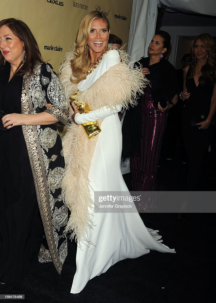 Actor <a gi-track='captionPersonalityLinkClicked' href=/galleries/search?phrase=Heidi+Klum&family=editorial&specificpeople=178954 ng-click='$event.stopPropagation()'>Heidi Klum</a> attends The Weinstein Company's 2013 Golden Globes After Party sponsored by Marie Claire held at The Old Trader Vic's in The Beverly Hilton Hotel on January 13, 2013 in Beverly Hills, California.