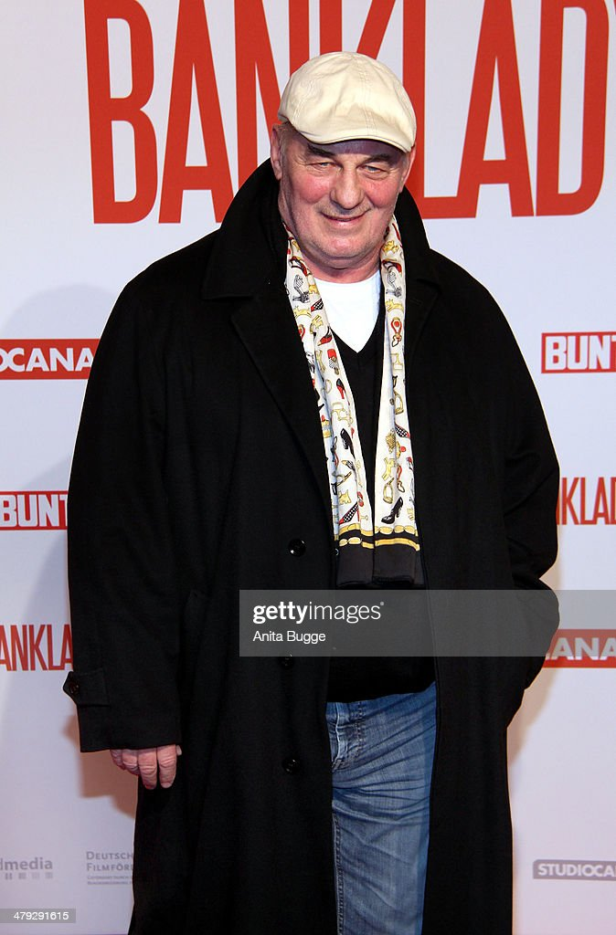 Actor <a gi-track='captionPersonalityLinkClicked' href=/galleries/search?phrase=Heinz+Hoenig&family=editorial&specificpeople=651593 ng-click='$event.stopPropagation()'>Heinz Hoenig</a> attends the 'Banklady' premiere at Kino International on March 17, 2014 in Berlin, Germany.