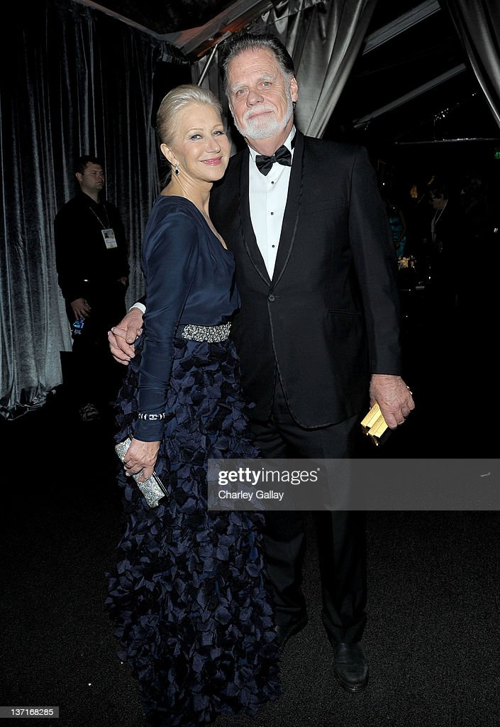 Actor <a gi-track='captionPersonalityLinkClicked' href=/galleries/search?phrase=Helen+Mirren&family=editorial&specificpeople=201576 ng-click='$event.stopPropagation()'>Helen Mirren</a> (L) and director <a gi-track='captionPersonalityLinkClicked' href=/galleries/search?phrase=Taylor+Hackford&family=editorial&specificpeople=202623 ng-click='$event.stopPropagation()'>Taylor Hackford</a> attend The Weinstein Company's 2012 Golden Globe Awards After Party with Chopard, Marie Claire and HP at The Beverly Hilton hotel on January 15, 2012 in Beverly Hills, California.