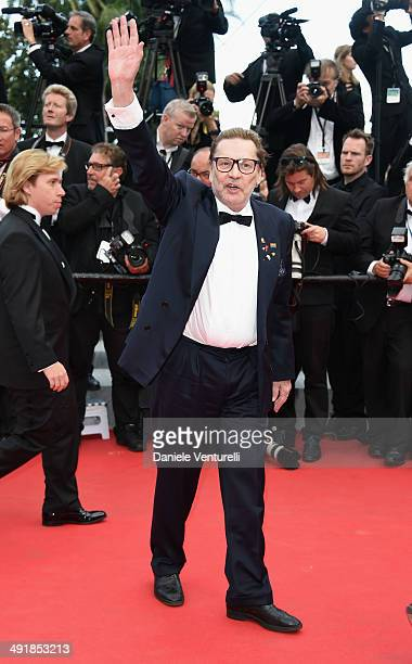 Actor Helmut Berger attends the 'Saint Laurent' Premiere at the 67th Annual Cannes Film Festival on May 17 2014 in Cannes France