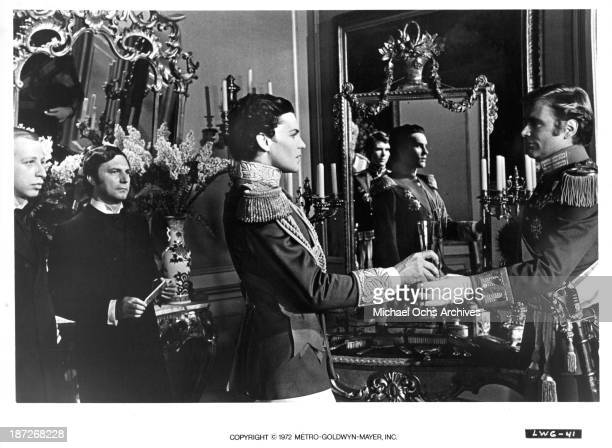 Actor Helmut Berger on set of the MGM movie 'Ludwig' as King Ludwig II of Bavaria in 1972