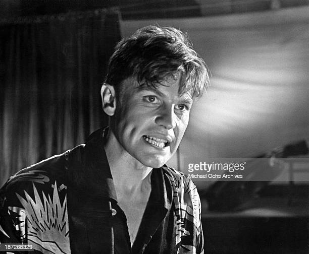 Actor Helmut Berger on set of the movie 'The Damned ' in 1969