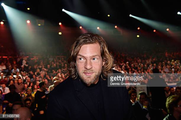 Actor Henning Baum looks on prior to the WBA Super Middleweight World Championship fight at KoenigPilsner Arena on February 20 2016 in Oberhausen...
