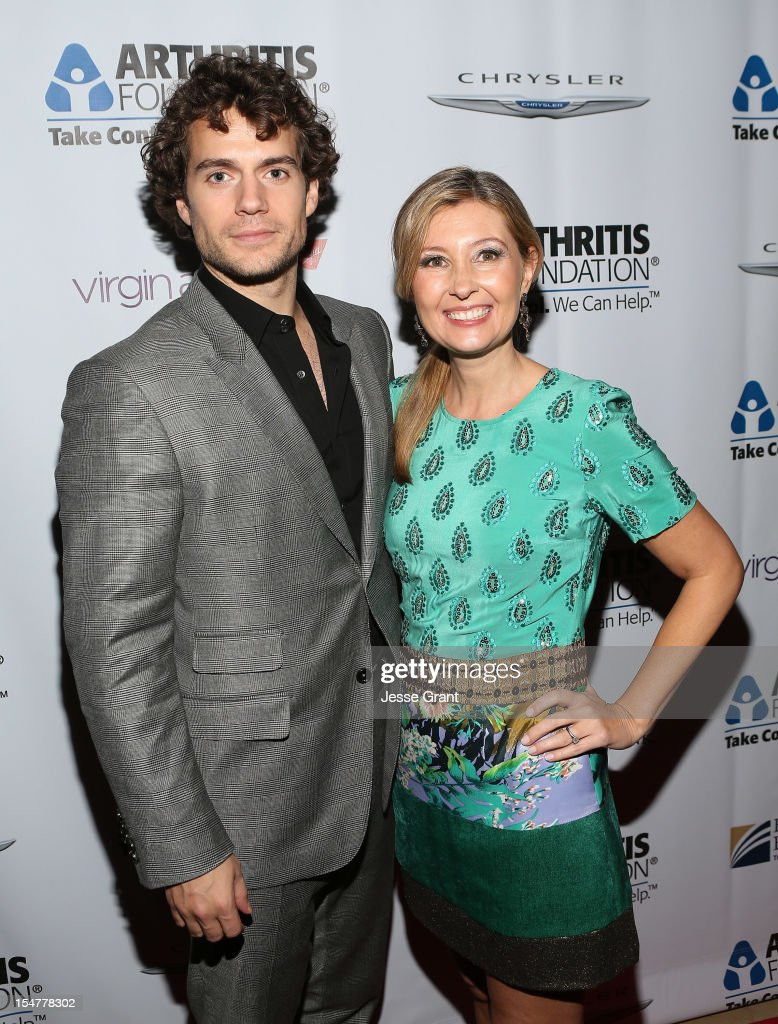 Actor <a gi-track='captionPersonalityLinkClicked' href=/galleries/search?phrase=Henry+Cavill&family=editorial&specificpeople=3767741 ng-click='$event.stopPropagation()'>Henry Cavill</a> and producer Deborah Snyder attend the Arthritis Foundation 'Commitment to a Cure' 2012 Awards Gala at The Beverly Hilton Hotel on October 25, 2012 in Beverly Hills, California.