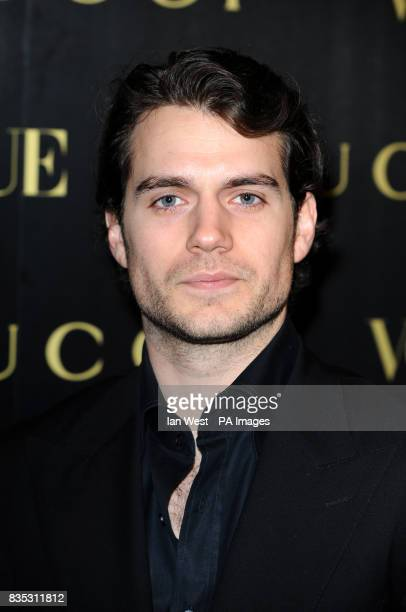 Actor Henry Cavill arrives at a dinner in honour of Frida Giannini Creative Director of Gucci hosted by Alexandra Shulman editor of British Vogue and...