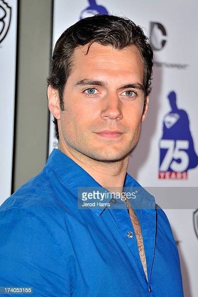 Actor Henry Cavill arrives at DC Entertainment and Warner Bros host Superman 75 party at San Diego ComicCon at Hard Rock Hotel San Diego on July 19...