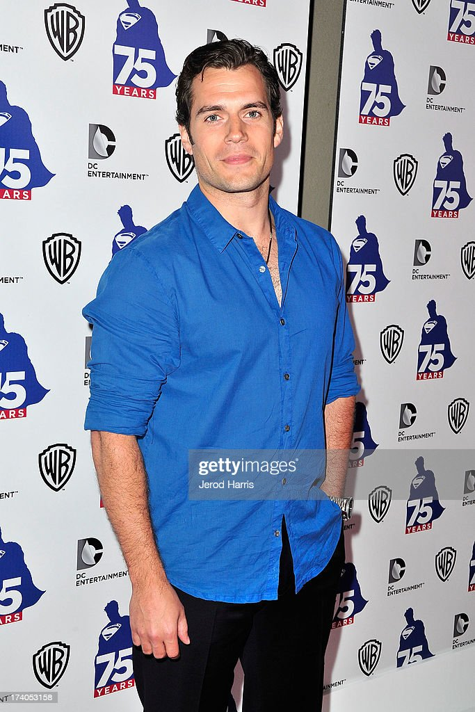 Actor <a gi-track='captionPersonalityLinkClicked' href=/galleries/search?phrase=Henry+Cavill&family=editorial&specificpeople=3767741 ng-click='$event.stopPropagation()'>Henry Cavill</a> arrives at DC Entertainment and Warner Bros. host Superman 75 party at San Diego Comic-Con at Hard Rock Hotel San Diego on July 19, 2013 in San Diego, California. Celebrities, executives and comic book creators packed the Hard Rock Hotel's Float Bar in downtown San Diego Friday night to celebrate 75 years of Superman. The guest list included a who's who of Hollywood elite and Superman lore, from its current comic creators to the original 1978 film to the current Man of Steel, <a gi-track='captionPersonalityLinkClicked' href=/galleries/search?phrase=Henry+Cavill&family=editorial&specificpeople=3767741 ng-click='$event.stopPropagation()'>Henry Cavill</a>.