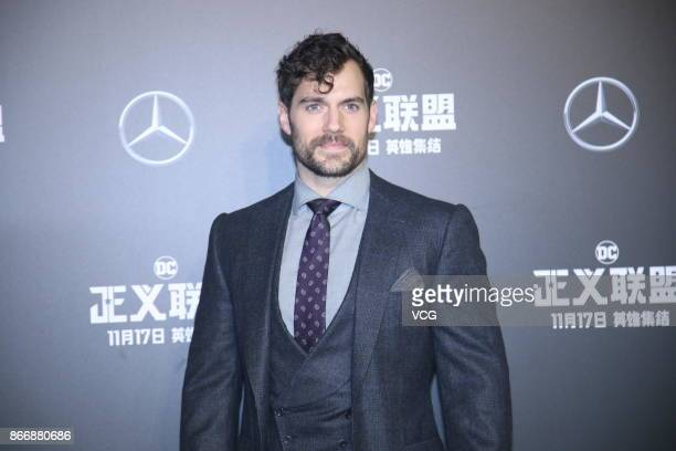 Actor Henry Cavill attends 'Justice League' premiere at 798 Art Zone on October 26 2017 in Beijing China
