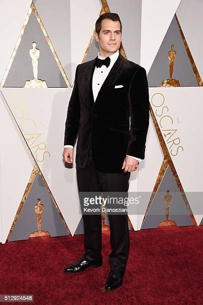 Actor Henry Cavill attends the 88th Annual Academy Awards at Hollywood Highland Center on February 28 2016 in Hollywood California