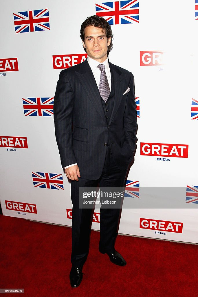 Actor <a gi-track='captionPersonalityLinkClicked' href=/galleries/search?phrase=Henry+Cavill&family=editorial&specificpeople=3767741 ng-click='$event.stopPropagation()'>Henry Cavill</a> attends the GREAT British Film Reception at British Consul General's Residence on February 22, 2013 in Los Angeles, California.