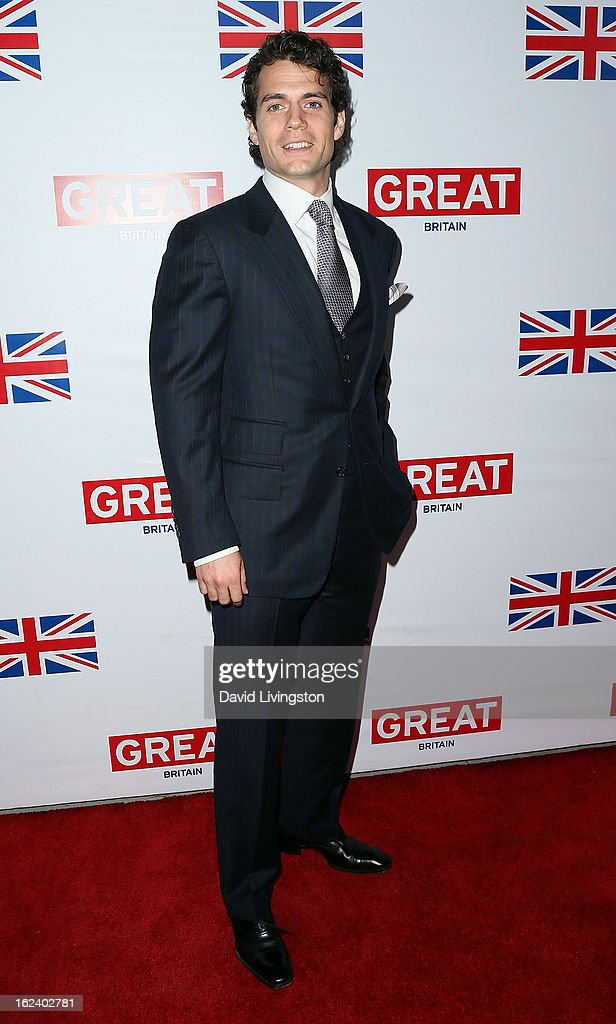 Actor <a gi-track='captionPersonalityLinkClicked' href=/galleries/search?phrase=Henry+Cavill&family=editorial&specificpeople=3767741 ng-click='$event.stopPropagation()'>Henry Cavill</a> attends the GREAT British Film Reception at the British Consul General's Residence on February 22, 2013 in Los Angeles, California.