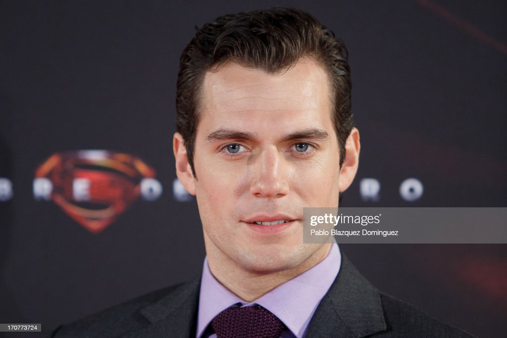 Actor <a gi-track='captionPersonalityLinkClicked' href=/galleries/search?phrase=Henry+Cavill&family=editorial&specificpeople=3767741 ng-click='$event.stopPropagation()'>Henry Cavill</a> attends the 'Man of Steel' (El Hombre de Acero) premiere at the Capitol cinema on June 17, 2013 in Madrid, Spain.