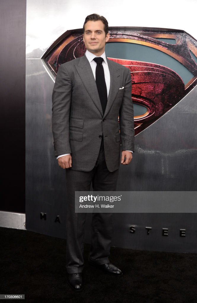 Actor <a gi-track='captionPersonalityLinkClicked' href=/galleries/search?phrase=Henry+Cavill&family=editorial&specificpeople=3767741 ng-click='$event.stopPropagation()'>Henry Cavill</a> attends the 'Man Of Steel' world premiere at Alice Tully Hall at Lincoln Center on June 10, 2013 in New York City.