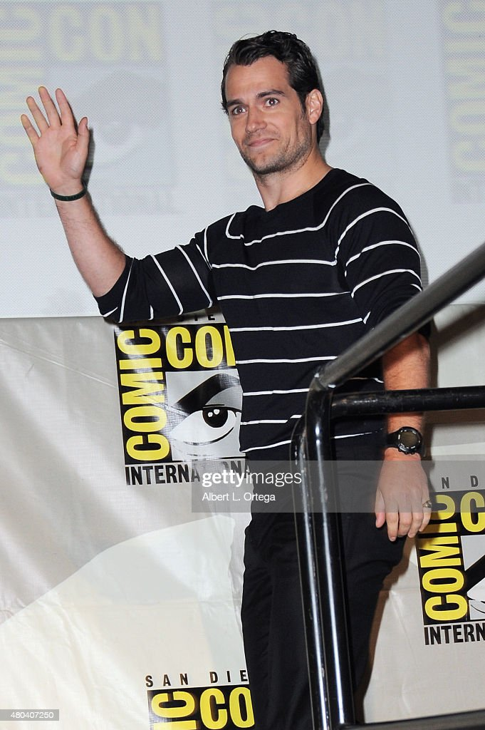 Actor Henry Cavill attends the Warner Bros. 'The Man from U.N.C.L.E.' presentation during Comic-Con International 2015 at the San Diego Convention Center on July 11, 2015 in San Diego, California.