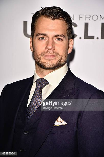 Actor Henry Cavill attends Warner Bros Pictures Canada and Audi Canada host a private cocktail reception for the Canadian premiere of 'The Man From...