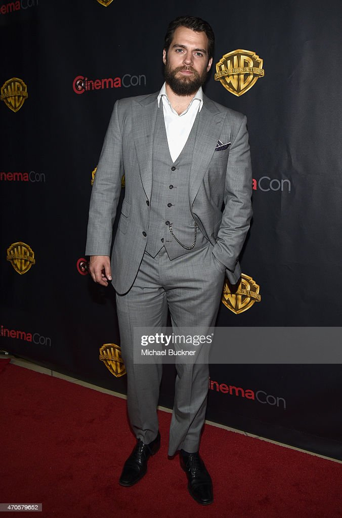 "Actor <a gi-track='captionPersonalityLinkClicked' href=/galleries/search?phrase=Henry+Cavill&family=editorial&specificpeople=3767741 ng-click='$event.stopPropagation()'>Henry Cavill</a> attends Warner Bros. Pictures Invites You to ""The Big Picture"", an Exclusive Presentation Highlighting the Summer of 2015 and Beyond at The Colosseum at Caesars Palace during CinemaCon, the official convention of the National Association of Theatre Owners, on April 21, 2015 in Las Vegas, Nevada."