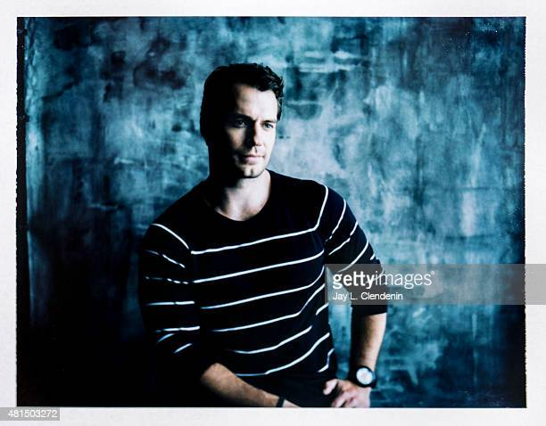 Actor Henry Cavill of ' Man from UNCLE' is photographed on polaroid film at ComicCon International 2015 for Los Angeles Times on July 9 2015 in San...