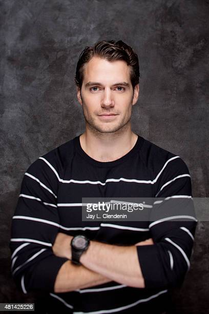 Actor Henry Cavill of ' Man from UNCLE' poses for a portrait at ComicCon International 2015 for Los Angeles Times on July 9 2015 in San Diego...