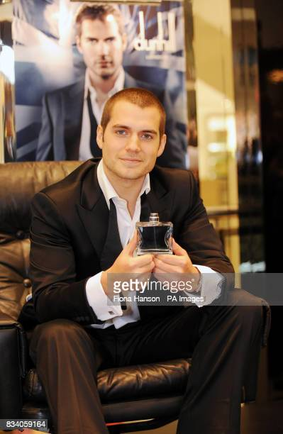 Actor Henry Cavill poses as the face of Dunhill London at the fragrance's launch in Selfridges central London