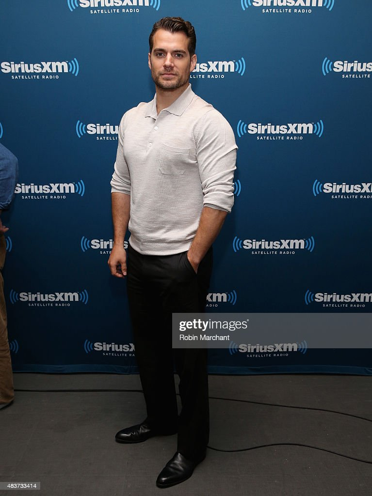 Actor <a gi-track='captionPersonalityLinkClicked' href=/galleries/search?phrase=Henry+Cavill&family=editorial&specificpeople=3767741 ng-click='$event.stopPropagation()'>Henry Cavill</a> poses for a photo during SiriusXM's Entertainment Weekly Radio 'The Man from U.N.C.L.E.' Town Hall with Guy Ritchie, <a gi-track='captionPersonalityLinkClicked' href=/galleries/search?phrase=Henry+Cavill&family=editorial&specificpeople=3767741 ng-click='$event.stopPropagation()'>Henry Cavill</a> and Armie Hammer at SiriusXM Studios on August 12, 2015 in New York City.