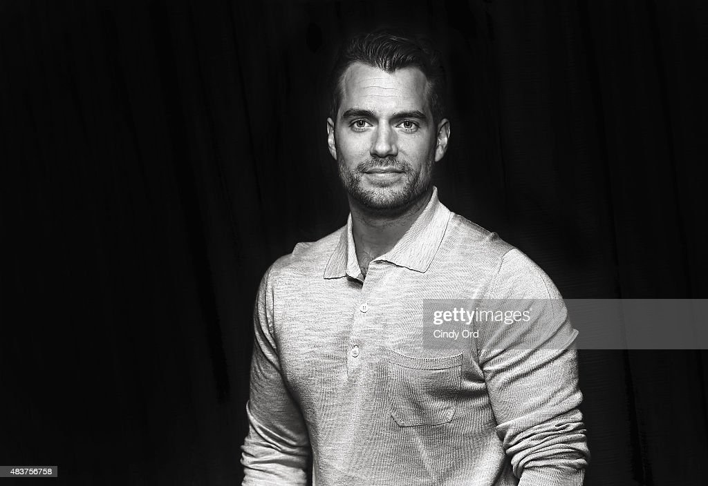 This image was processed using digital filters) Actor Henry Cavill poses for a photo during SiriusXM's Entertainment Weekly Radio 'The Man from U.N.C.L.E.' Town Hall with Guy Ritchie, Henry Cavill and Armie Hammer on August 12, 2015 in New York City.