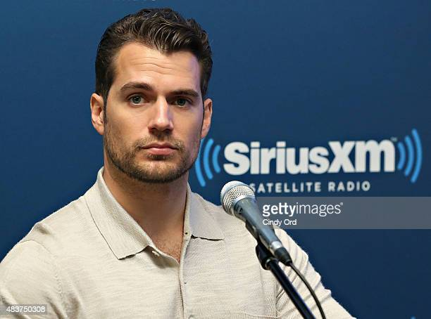 Actor Henry Cavill takes part in SiriusXM's Entertainment Weekly Radio 'The Man from UNCLE' Town Hall with Guy Ritchie Henry Cavill and Armie Hammer...