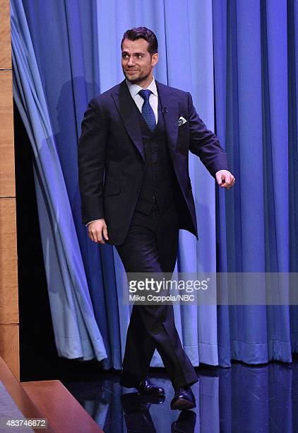 Actor Henry Cavill visits 'The Tonight Show Starring Jimmy Fallon' at Rockefeller Center on August 12 2015 in New York City
