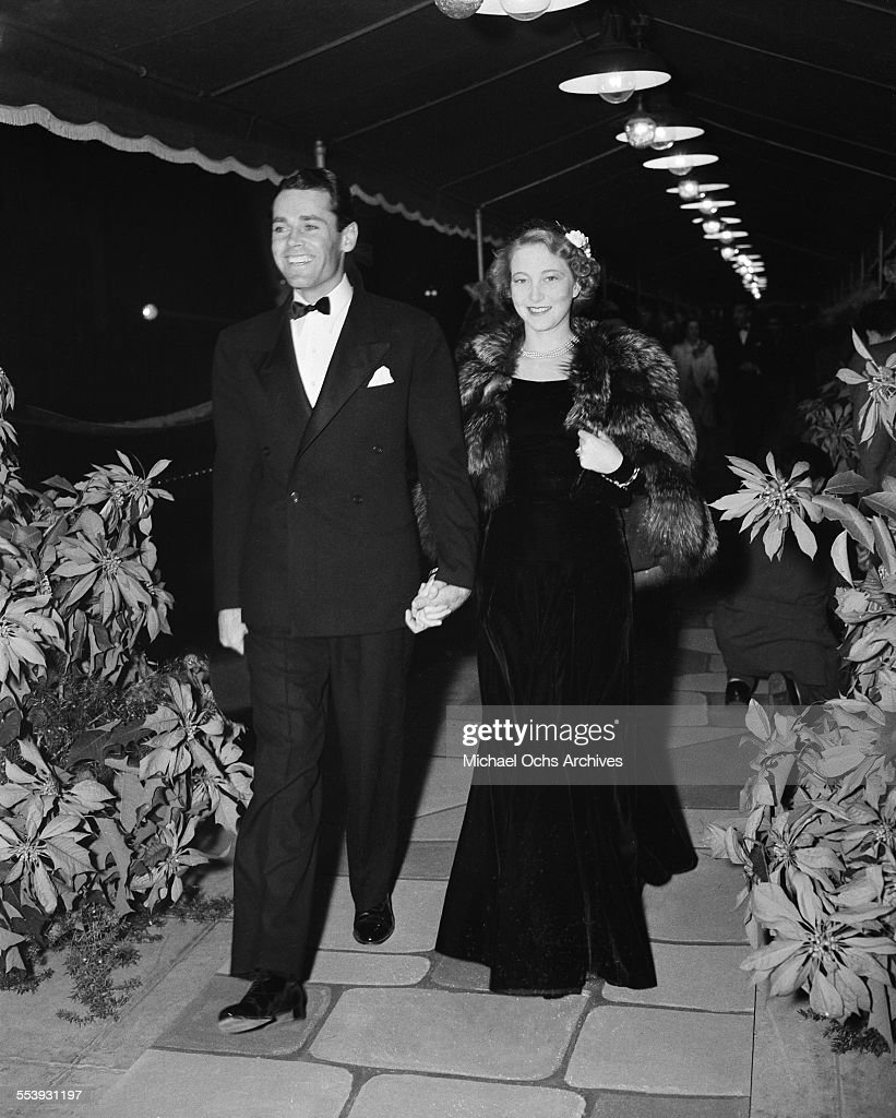 Actor <a gi-track='captionPersonalityLinkClicked' href=/galleries/search?phrase=Henry+Fonda&family=editorial&specificpeople=93512 ng-click='$event.stopPropagation()'>Henry Fonda</a> and his wife Frances Ford Seymour attend an event in Los Angeles, California.