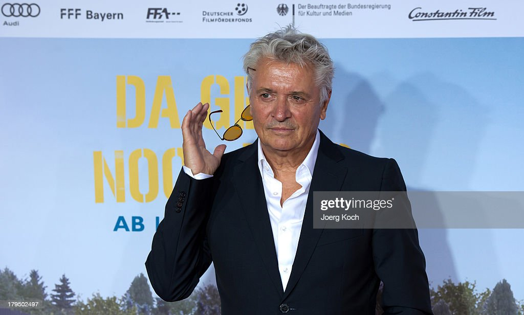 Actor <a gi-track='captionPersonalityLinkClicked' href=/galleries/search?phrase=Henry+Huebchen&family=editorial&specificpeople=636052 ng-click='$event.stopPropagation()'>Henry Huebchen</a> poses at the 'Da geht noch was' Germany premiere at Mathaeser on September 4, 2013 in Munich, Germany.