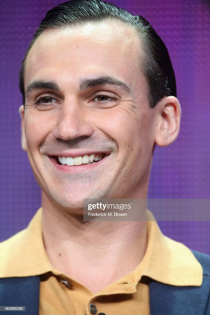 Actor Henry LloydHughes speaks onstage during the 'Indian Summers' panel discussion at the PBS portion of the 2015 Summer TCA Tour at The Beverly...
