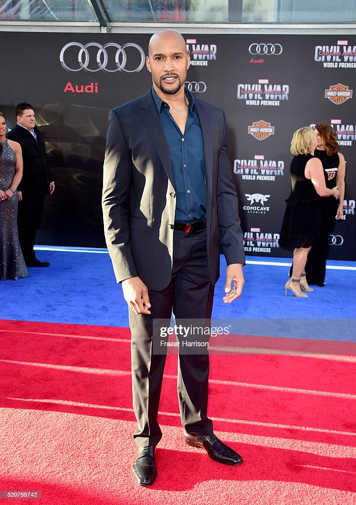 Actor Henry Simmons attends the premiere of Marvel's 'Captain America: Civil War' at Dolby Theatre on April 12, 2016 in Los Angeles, California.