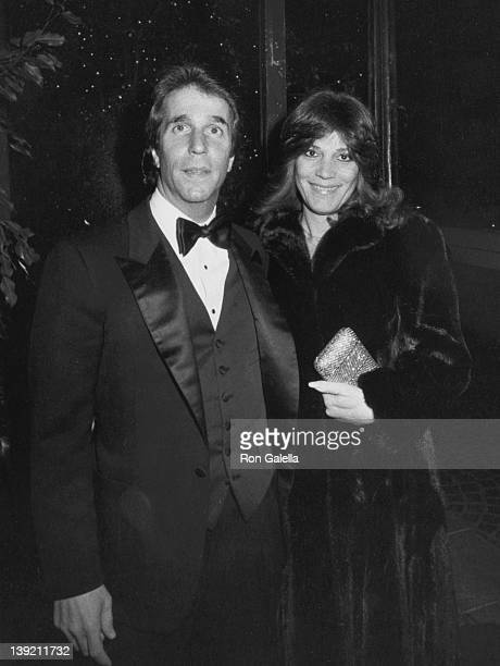 Actor Henry Winkler and wife Stacey Furstman attending 27th Annual WAIF Ball Honoring Gary Nardino on February 4 1983 at the Beverly Wilshire Hotel...