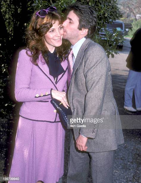 Actor Henry Winkler and wife Stacey Weitzman attend Donny Most and Morgan Hart Wedding Reception on February 21 1982 at the Beverly Hills Home of...