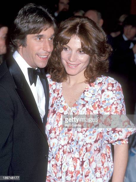 Actor Henry Winkler and wife Stacey Weitzman attend the 'A Tribute to Neil Simon' Gala Retrospective and Performances on March 12 1978 at Long Beach...