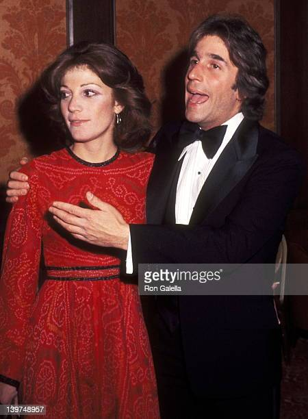 Actor Henry Winkler and wife Stacey Weitzman attend the Hollywood Radio and Television Society's 1977 International Broadcasting Awards on March 2...