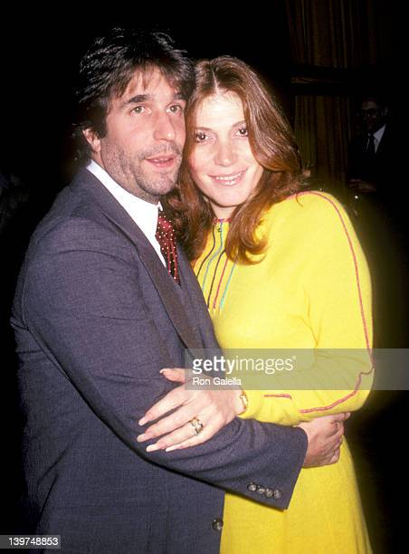 Actor Henry Winkler and wife Stacey Weitzman attend the Third Annual Media Awards on January 22 1981 at Beverly Hilton Hotel in Beverly Hills...