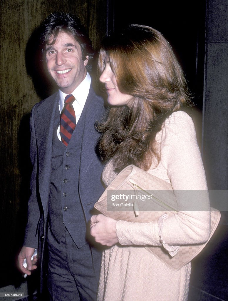 Actor Henry Winkler and wife Stacey Weitzman attend the Twyla Tharp Dance Company Opening Night Performance on March 17 1981 at Ahmanson Theatre Los...