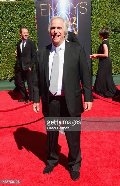 Actor Henry Winkler attends the 2014 Creative Arts Emmy Awards at Nokia Theatre LA Live on August 16 2014 in Los Angeles California