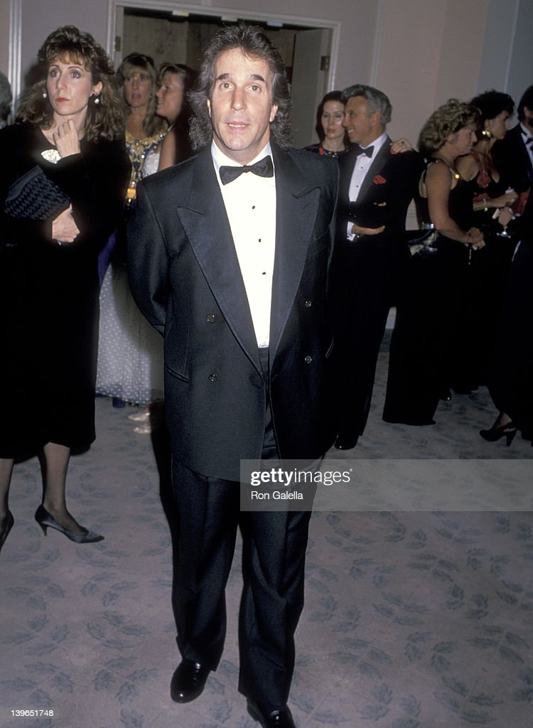 Actor Henry Winkler attends The Princess Grace Foundation Special Gala Tribute to Cary Grant on October 19 1988 at Beverly Hilton Hotel in Beverly...