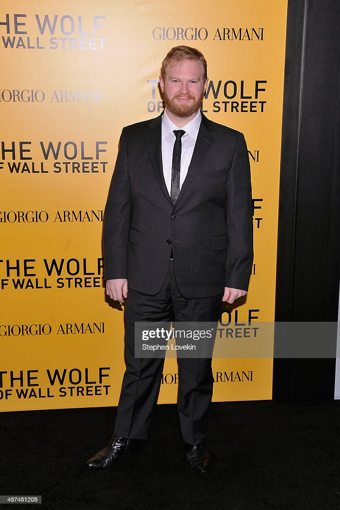Actor Henry Zebrowski attends Giorgio Armani Presents: 'The Wolf Of Wall Street' world premiere at the Ziegfeld Theatre on December 17, 2013 in New York City.