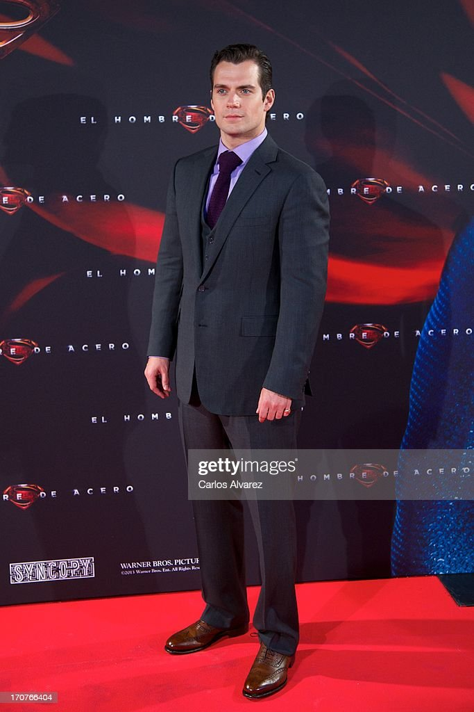 Actor Herny Cavill attends the 'Man of Steel' (El Hombre de Acero) premiere at the Capitol cinema on June 17, 2013 in Madrid, Spain.
