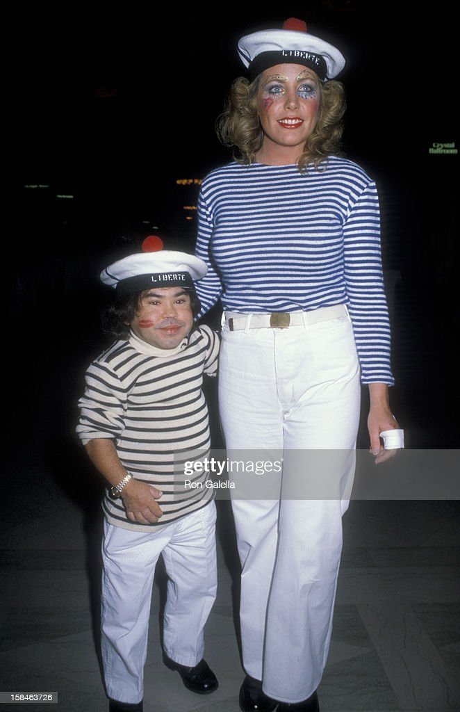 Actor <a gi-track='captionPersonalityLinkClicked' href=/galleries/search?phrase=Herve+Villechaize&family=editorial&specificpeople=1691626 ng-click='$event.stopPropagation()'>Herve Villechaize</a> and Toby Bishop attending Sixth Annual Benefti Gala for Hathaway Home For Children on February 25, 1984 at the Biltmore Hotel in Los Angeles, California.