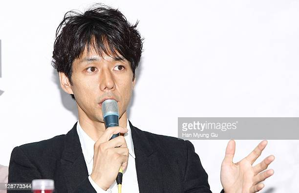 Actor Hidetoshi Nishijima attends the Gala Presentation press conference for 'Cut' during the 16th Busan International Film Festival at Busan Cinema...