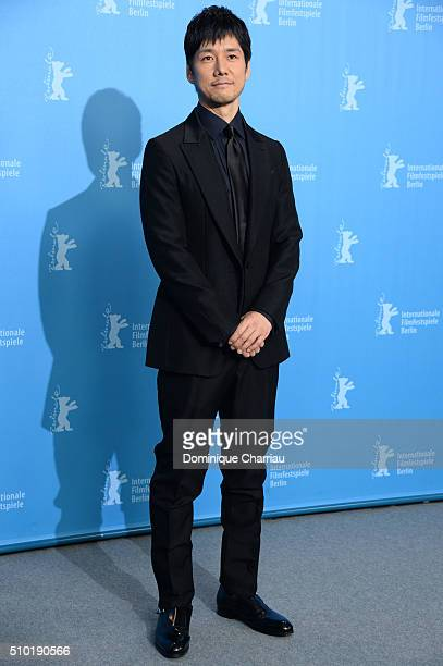 Actor Hidetoshi Nishijima attends the 'While the Women Are Sleeping' photo call during the 66th Berlinale International Film Festival Berlin at Grand...
