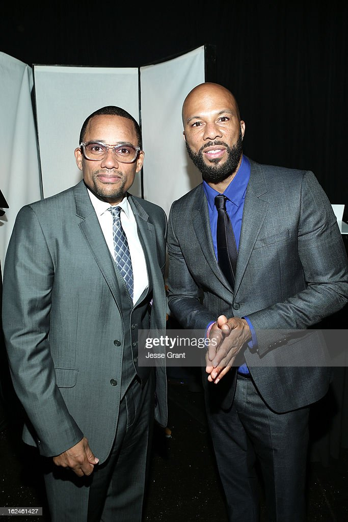 Actor <a gi-track='captionPersonalityLinkClicked' href=/galleries/search?phrase=Hill+Harper&family=editorial&specificpeople=212847 ng-click='$event.stopPropagation()'>Hill Harper</a> (L) and actor/recording artist Common attend the On3 Official Presenter Gift Lounge during the 2013 Film Independent Spirit Awards at Santa Monica Beach on February 23, 2013 in Santa Monica, California.